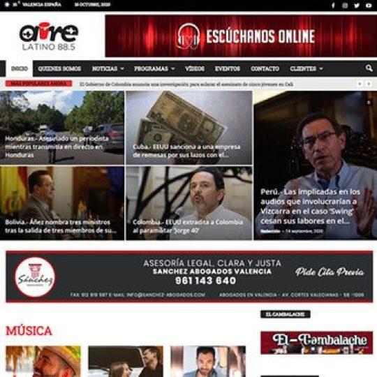 Web Aire Latino FM