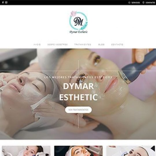 web Dymar Estetica.