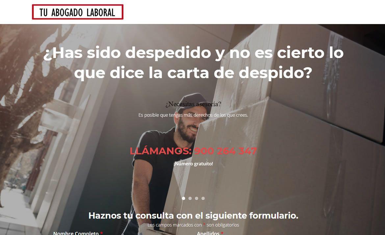 Landing page abogado laboral