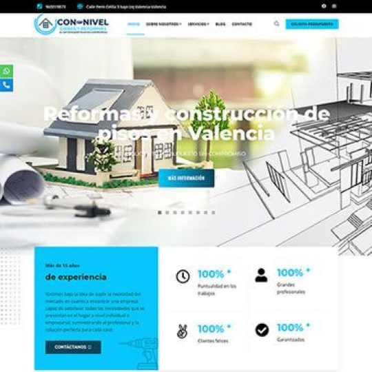 Diseno web para empresa de construccion