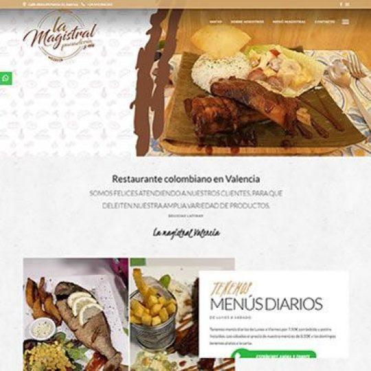 Diseno web para restaurante en Valencia La Magistral Valencia